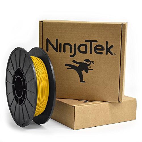 Ninjatek 3dch04117505Ninjatek Cheetah TPU Filament, 1.75mm, TPE, 2950CC, soleil (Jaune) (lot de 1)
