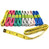 FF Elaine 12 Pcs Double-Scale 60-Inch/150cm Soft Tape Measure Ruler Bulk for Sewing Tailor Cloth - 6 Colors