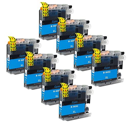 SXCD LC669XL LC665XL Cartuchos De Tinta para El Hermano,Reemplazo para Brother MFC-J2320 MFC-J2720 MFC-J2720 Impresora De Inyección Rendimiento Cartucho Compatible con 4 Cyan x 8