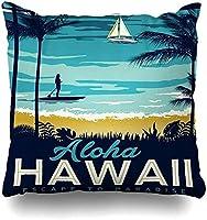 スロー枕カバーアロハハワイ枕カバースクエアソファかわいい45 x 45 cmクッションケース枕カバー