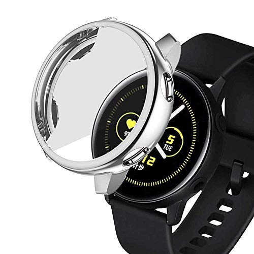 Haotop Scratch Resistant Cover Case Compatible for Samsung Galaxy Watch Active 40mm(Watch Not Included) (Black)