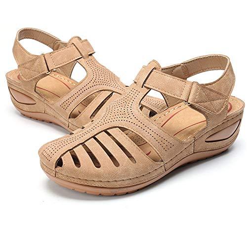 Sandalias ortopédicas para mujer, sandalias para caminar con plataforma y zapatos de playa para viajes en crucero junto a la piscina, color, talla 36 EU