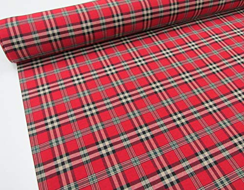 Confección Saymi Metraje 0,50 MTS Tejido Cuadros Ref. Escocés Color Rojo, con Ancho 2,80 MTS.
