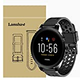 LvBu Armband Kompatibel Für Fossil Carlyle HR, Sport Silikon Classic Ersatz Uhrenarmband Für Fossil Gen 5 Carlyle HR (Schwarz)