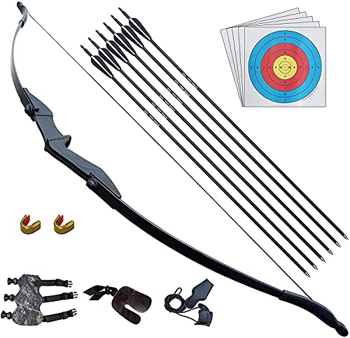 D&Q Recurve Bow and Arrow Archery Set for Adult Junior Beginner Outdoor...
