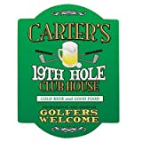 GiftsForYouNow Personalized 19th Hole Golf Sign, 11.5' x 15.5', Includes Mounting Accessories
