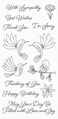 My Favorite Things MFT Clear Stamps HUMMINGBRD, Happy Hummingbirds