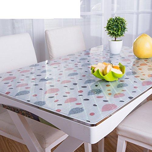 Protector de escritorio de PVC grueso de 1.5 mm personalizado Protector de escritorio transparente de cristal Cubierta de mesa de plástico Protector de mesa de vinilo rectangular-f 70x130cm(28x51inch)