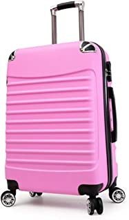 Trolley Case 20 inch Carry On Luggage Lightweight ABS, 4 Wheel Spinner Suitcase Hard Cabin Travel Case Hand Luggage for Easyjet British Airways Ryanair. Travel Luggage Carry-Ons (Color : Pink)