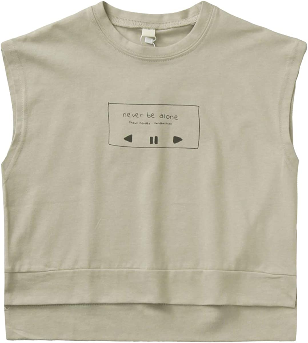 Toddler Kids Boys'Tank Tops Printed Sleeveless T-Shirts Cartoon Pattern Summer Tee