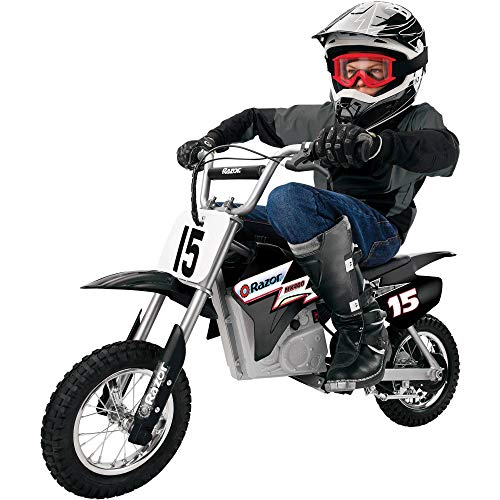 Razor MX400 Dirt Rocket Kids Ride On 24V Electric Toy Motocross Motorcycle Dirt Bike, Speeds up to 14 MPH, Black