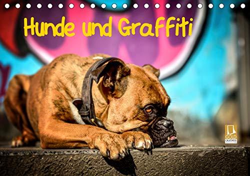 Hunde und Graffiti (Tischkalender 2021 DIN A5 quer)