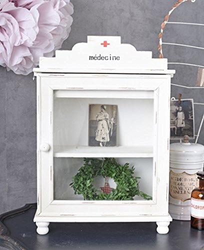 Unbekannt Medizinschrank Wandschrank Shabby Chic Arzneischrank Hängevitrine Antik Palazzo Exklusiv