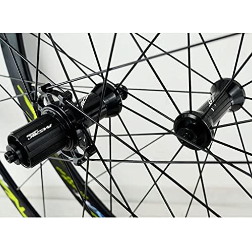 LICHUXIN 700C Ruedas De Bicicleta De Carretera QR Freno V/C 40MM Bicicleta Delantera y Rueda Trasera para 7 8 9 10 11 12 Velocidad (Color : Blue, Size : 700C)