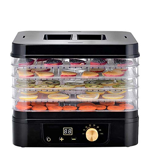 Learn More About GSAGJsf Food Dehydrator Tiered Black Knob Control Timing 24H Household Electric Foo...