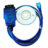 HaoYiShang Cable de diagnóstico OBD2 OBD-II KKL COM USB para 409.1 Audi VW Skoda for XP and Win 7