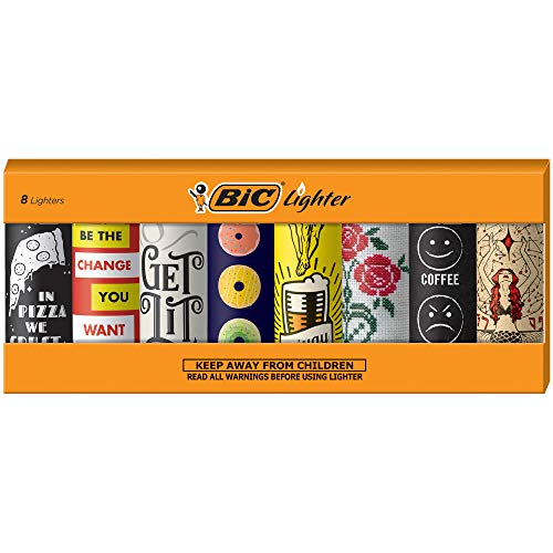 BIC Special Edition Cutting Edge Series Lighters, Set of 8 Lighters