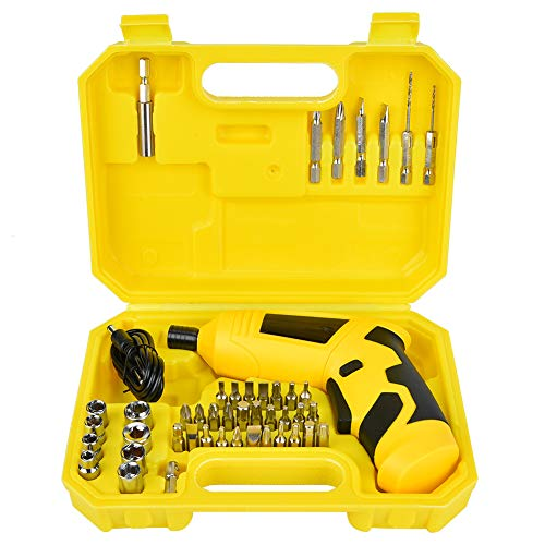Weikeya Electric Screwdriver, Plastic 1-2 hours Charging Time 1/4in Home Tool Kit
