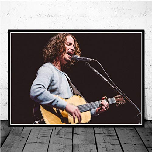 lubenwei Posters and Prints Chris Cornell Music Singer Star Poster Wall Art Picture Canvas Painting for Room Home Decor 40x50cm No frame AW-484