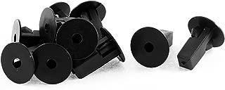 uxcell 10 Pcs Black Plastic Interior Rivet Clip