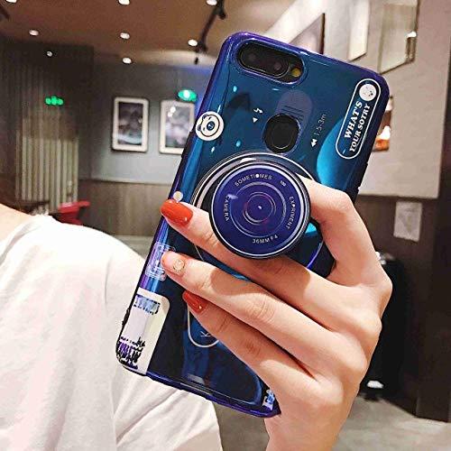 SJKDM telefoonhoesje Blauw Ray Camera Silicone Telefoonhoesje Voor Samsung Galaxy S10 S9 S8 Plus Case Zachte TPU Back Cover Voor Samsung Note 10 Plus