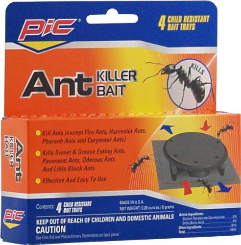 PIC Plastic Ant Killer Bait Stations, Effective Ant Control Traps, 4 Count…