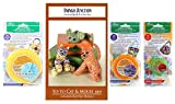 Yo-Yo Cat and Mouse Kit Bundle including Pattern by Indygo Junction and Extra Large, Large, and Small, Clover Yo-Yo Makers