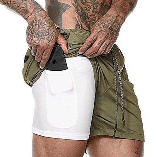 Pantalones Cortos Deportivos Pantalones Cortos De Culturismo para Hombre, Pantalones Cortos De Verano paraHombre, Malla Transpirable, Ropa Deportiva De Secado Rápido, Panta