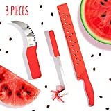Riveira Watermelon Slicer Windmill Cutter Carving Knife 12-Inch Stainless Steel 3-Piece Kitchen...