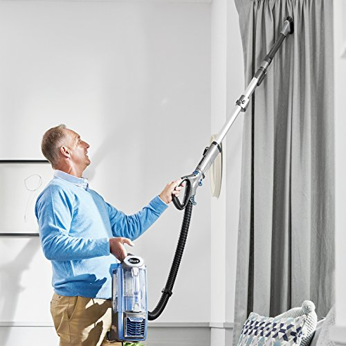 Shark Upright Vacuum Cleaner [NV681UK] Powered Lift-Away, Powerful, Blue, Blue/Steel Grey, Standard