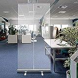 VOCD Mamparas separadora de Protección de Transparente Incluye peanas,Pantalla Mampara Protectora portátil oficinas y Trabajo Separación