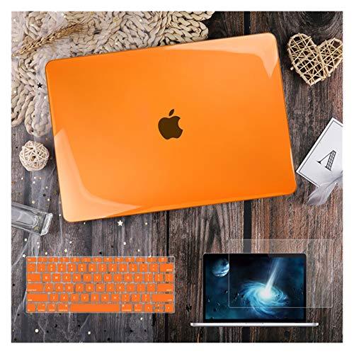 para MacBook Air 11 12 13.3'Cubierta Clara De Cristal para MacBook Air Pro 13 15 16 Touch Barra/Touch ID A2289 A2338 M1 A2159 (Color : Crystal Orange, Size : Air 11 A1465 A1370)