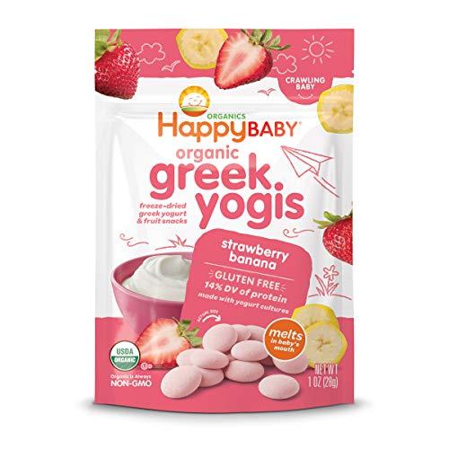 Happy Baby Organic Greek Yogis Freeze-Dried Greek Yogurt and Fruit Snacks Strawberry/Banana,...