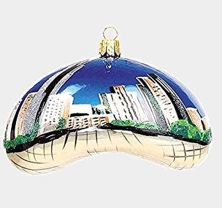 Pinnacle Peak Trading Company Chicago Bean During the Daytime Polish Blown Glass Christmas Ornament Decoration