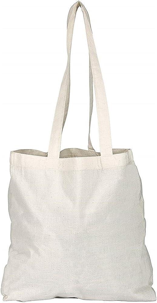 D&H Paquete de 1/3/5/10/25/50/100 bolsas de algodón natural liso para la compra