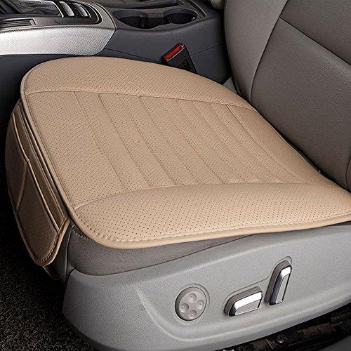 N/A Ademende PU lederen bamboe houtskool auto interieur stoelbekleding kussen pad voor auto-benodigdheden bureaustoel, Beige