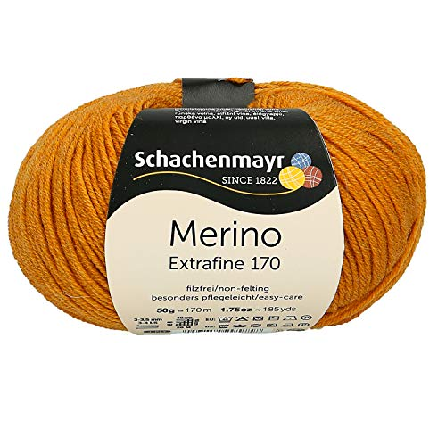 Schachenmayr Handstrickgarne Merino Extrafine 170, 50g Gold Meliert