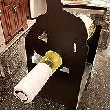 MCKEYEN Estantes De Vino De Mesa Creativos para Adultos, Soporte De Botella De Vino De Metal, Estante De Exhibición De Encimera Independiente De Broma Divertida, para Barra De Cocina En Casa