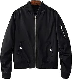 Blissmall MA-1 ブルゾン レディース ma1 ミリタリージャケット フライトジャケット 綿 薄手 カジュアル 春秋のコート 楽しく選べる全10色 BB10