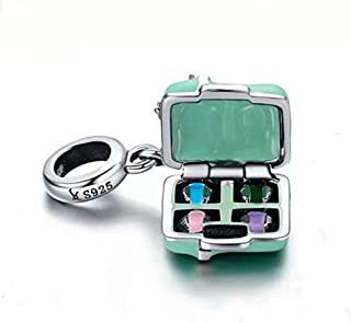 7a2f69ab3 ABAOLA Women Make Up Mirrors/Pressed Powder Charm 925 Sterling Silver Beads  fit for Fashion