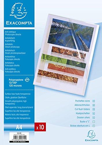 Exacompta 5610E - Bolsa de 10 dossiers, A4, transparente