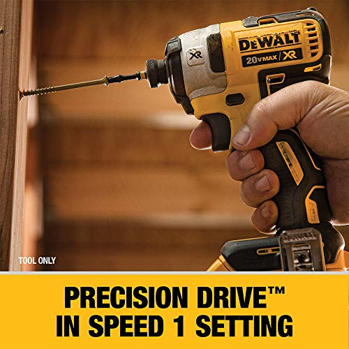 DEWALT 20V MAX XR Impact Driver, Brushless, 3-Speed, 1/4-Inch, Tool Only (DCF887B)