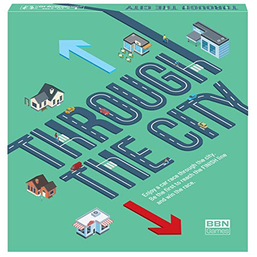 New - 2021 - Through The City - a Fun Urban car Race - Board Games for Kids and Parents - Easy and...