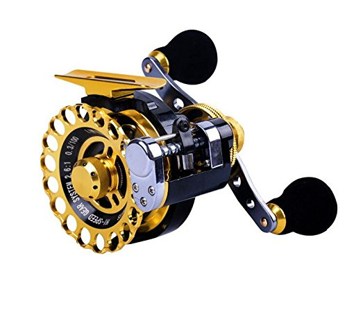 Inline Ice Fishing Reel Right/Left in Line Ice Reel with 8+1 Ball Bearings (Left)