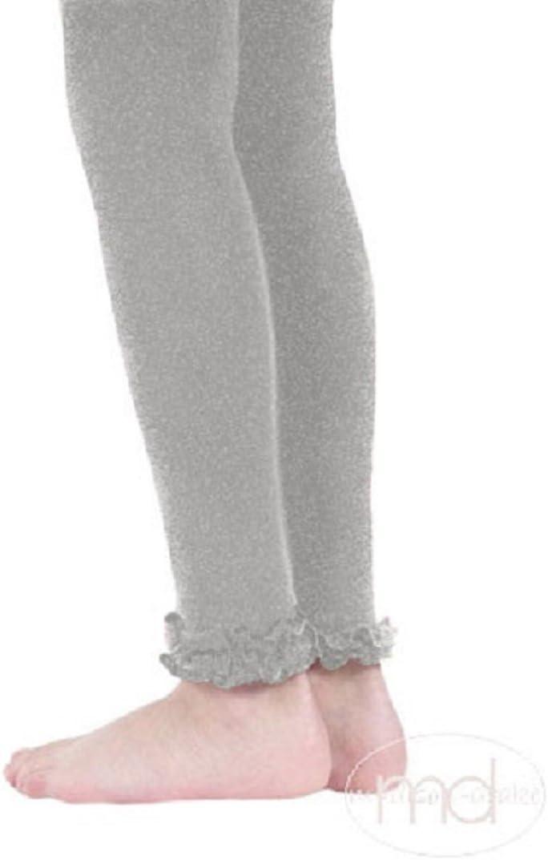 New Jefferies 1 pr Pima Cotton Ruffle Footless Tights 4-6 years HEATHER GREY GRAY