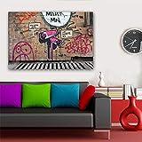 ganlanshu Graffiti Lienzo Pintura Arte Abstracto Moderno Lienzo Arte Cartel decoración del hogar Pintura sin Marco 50cmx75cm