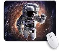 マウスパッド 個性的 おしゃれ 柔軟 かわいい ゴム製裏面 ゲーミングマウスパッド PC ノートパソコン オフィス用 デスクマット 滑り止め 耐久性が良い おもしろいパターン (ギャラクシー宇宙飛行士がスマートフォンの宇宙飛行士を月面に置いておく)