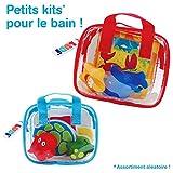 LUDI - Livre d'éveil en plastique pour jouer dans le bain + 2 animaux arroseurs. Dès 6 mois. Plusieurs modèles de jouets disponibles. Sac de rangement inclus. Jouet à emmener à la plage - 2150