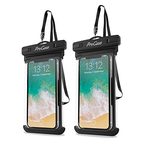 ProCase 2 Stück wasserdichte Uni Handyhülle (Waterproof Phone Case) bis 6.9