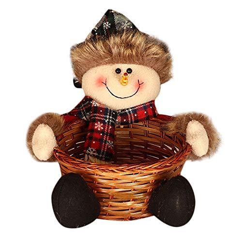 LoveLeiter Weihnachtssüßigkeits-Speicherkorb-Dekoration Weihnachtsmann-Ablagekorb-Geschenk Weihnachten Mädchen Junge Kreatives Geschenk Neuheit (A)